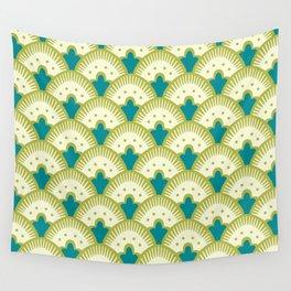 Fan Pattern Chartreuse Wall Tapestry