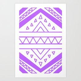 Triangle line drawing // purpe Art Print