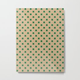 Cadmium Green on Tan Brown Stars Metal Print