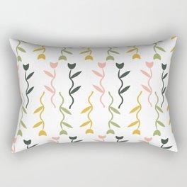 Dancing Tulips Floral Pattern Rectangular Pillow