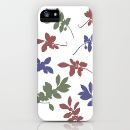 Chinese Elm leaves iPhone Case