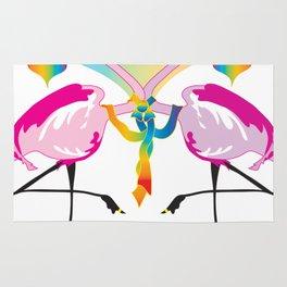 Gay Flamingos Rug