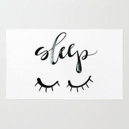 Sleep Closed Eyes Rug