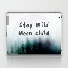 Stay wild moon child watercolor Laptop & iPad Skin