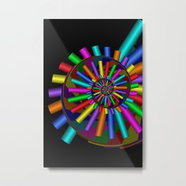 turn around with colors -40- Metal Print