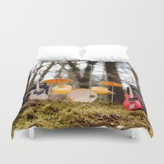 If a band plays in the forest ...... Duvet Cover