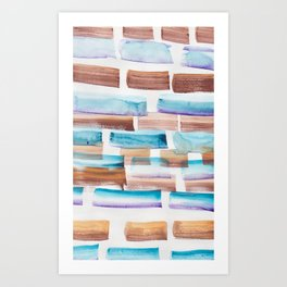 28 | 190304 Watercolour Painting Abstract Pattern Art Print