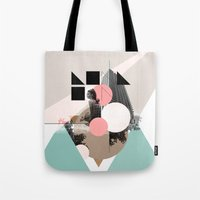uk Tote Bags featuring Locals Only - London - UK by Natalie Nicklin