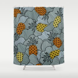 Pineapple and Ginko Shower Curtain