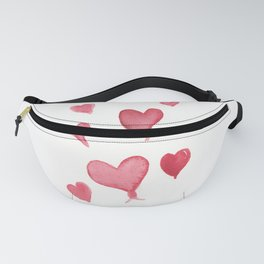 Red Hearts Fanny Pack