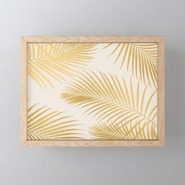 Metallic Gold Tropical Palm Fronds Framed Mini Art Print