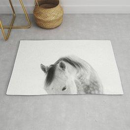 Modern Photography White Horse Rug