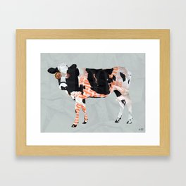 Kuh Collage Framed Art Print
