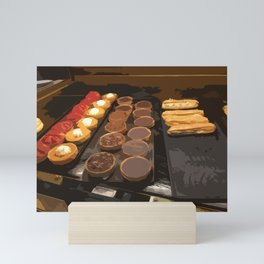 Tarts and eclairs Mini Art Print