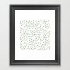 Blue Cherry Blossom Framed Art Print