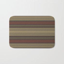 Stylish Red Gold Stripes Bath Mat