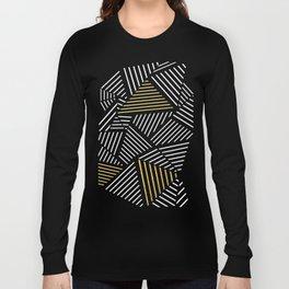 A Linear Black Gold Long Sleeve T-shirt