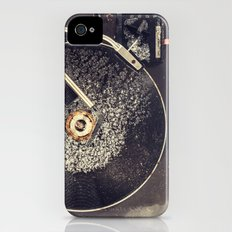 Record Player in Snow iPhone (4, 4s) Slim Case