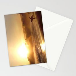 Walking Into the Sun Stationery Cards