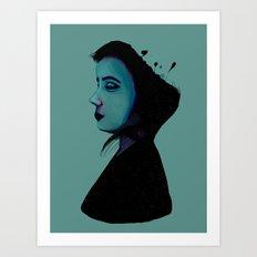 Night Girl Art Print