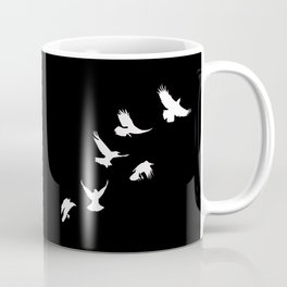 Crows (White) Coffee Mug
