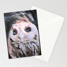 Marble Owl Stationery Cards