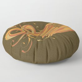 Lady Of The Wind-Natural Green Floor Pillow