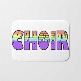 Pastel Choir Bath Mat
