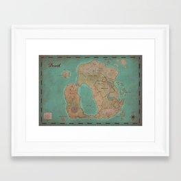 Map of Dereth //Asheron's Call Framed Art Print