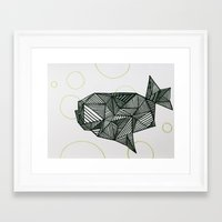 manatee Framed Art Prints featuring Manatee  by Victoria Galinetti