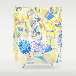 Mosaic of Barcelona III Shower Curtain