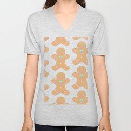 Cute Gingerbread Pattern Unisex V-Neck