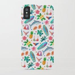Dotty Summer Beach Pattern iPhone Case