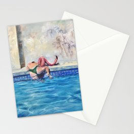 Getting out of the deep end Stationery Cards