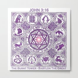 JOHN 3:16 - The Burnt Tower / Babylon The Great Metal Print
