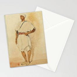 "Eugène Delacroix ""A standing Moroccan"" Stationery Cards"