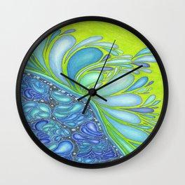 Aqua Splash Wall Clock