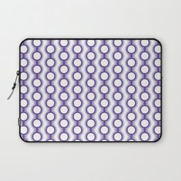 Retro-Delight - Conjoined Circles - Lavender Laptop Sleeve