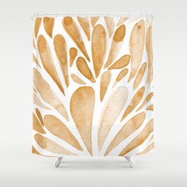 Watercolor artistic drops - orange Shower Curtain