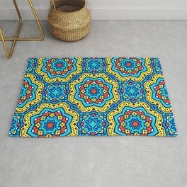 Ornate Festive Folklore Colorful Pattern Rug