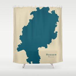 Modern Map - Hessen DE Shower Curtain