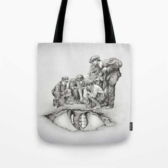 In which the cave is approached with caution  Tote Bag