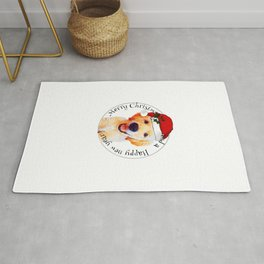 Golden retriever,Christmas puppy.. Gift idea for dog lovers Rug