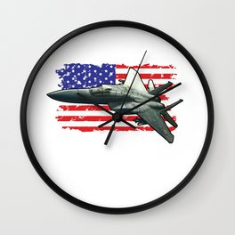 F15 Fighter Eagle for Military Aviation Fan  Product Wall Clock