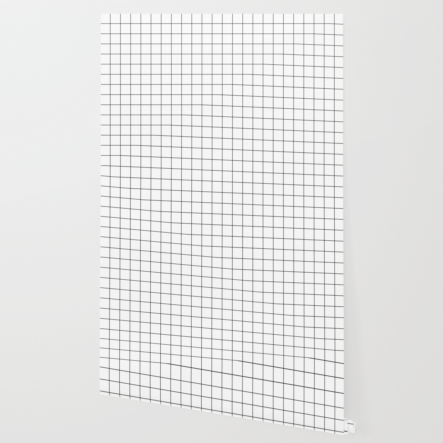 Grid Simple Line White Minimalist Wallpaper By Beautifulhomes Society6