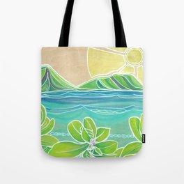 Naupakas in Paradise Surf Art by Lauren Tannehill Tote Bag