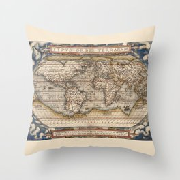 TYPVS ORBIS TERRARUM Throw Pillow