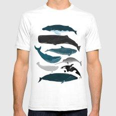 Whales and Porpoises sea life ocean animal nature animals marine biologist Andrea Lauren Mens Fitted Tee MEDIUM White