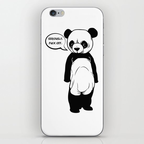 Angry Panda iPhone & iPod Skin