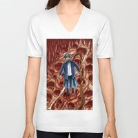 sandra dieckmann V-neck T-shirts featuring Sandra by Robert Elrod